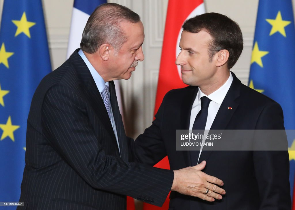 French president emmanuel macron r and turkish president recep french president emmanuel macron r and turkish president recep tayyip erdogan greet each other m4hsunfo