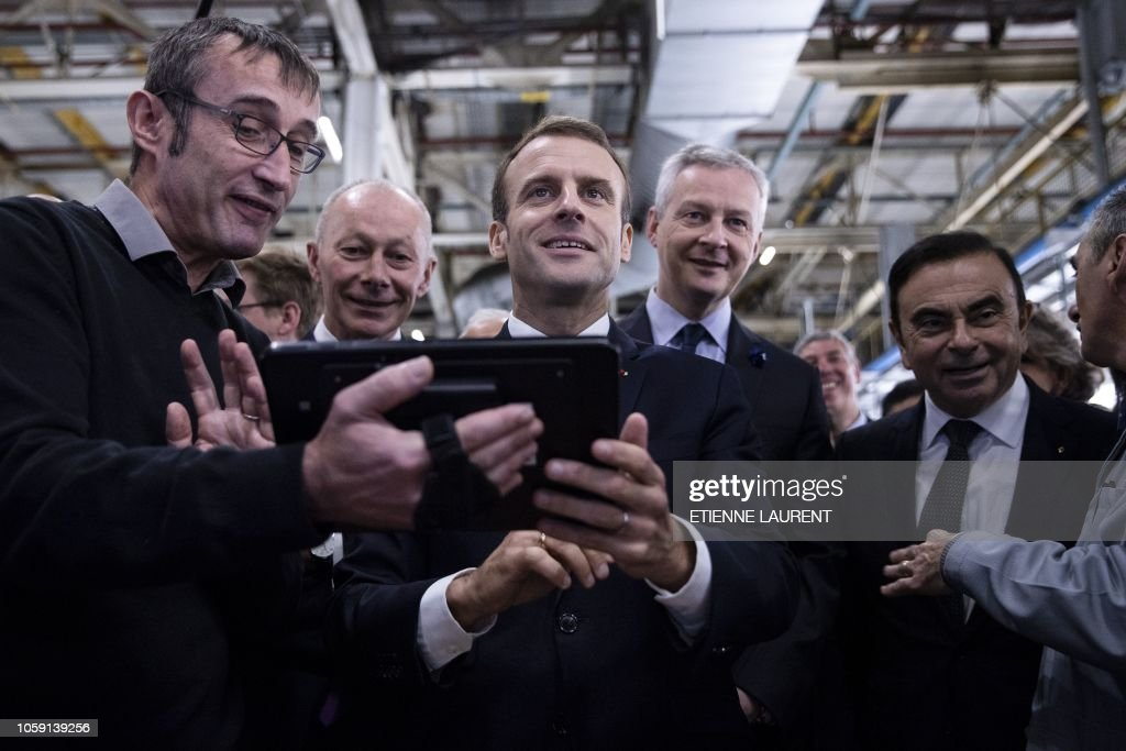 FRANCE-SOCIAL-LABOUR-ECONOMY-RENAULT : News Photo