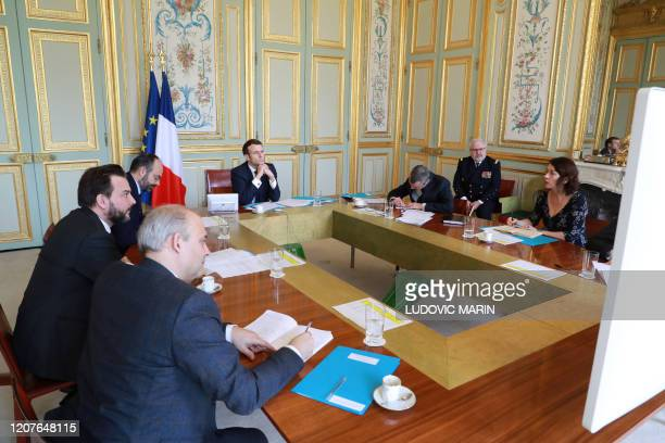 French president Emmanuel Macron general secretary of the presidence Alexis Kohler Prime minister Edouard Philippe Prime Minister's chief of staff...