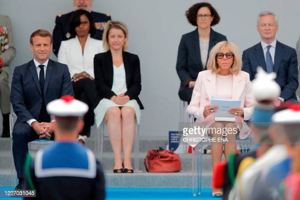 French President Emmanuel Macron his wife Brigitte Macron French Ecological Transition Minister Barbara Pompili French Economy and Finance Minister...