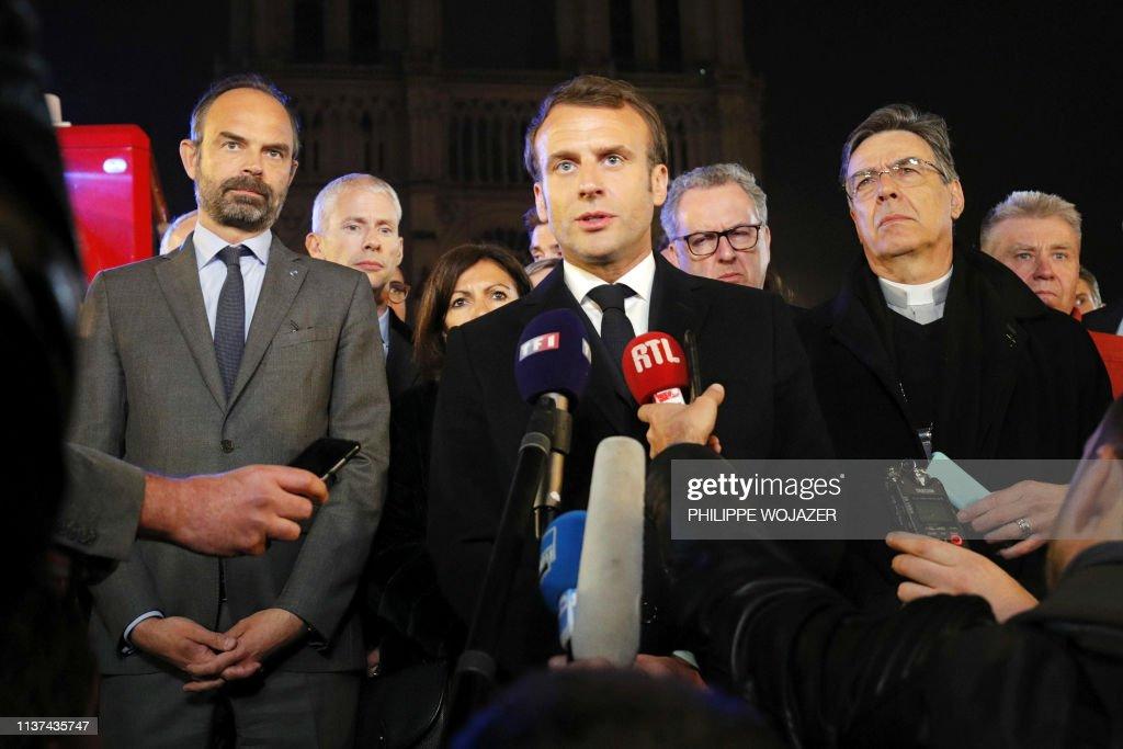 FRANCE-FIRE-NOTRE DAME : Fotografia de notícias