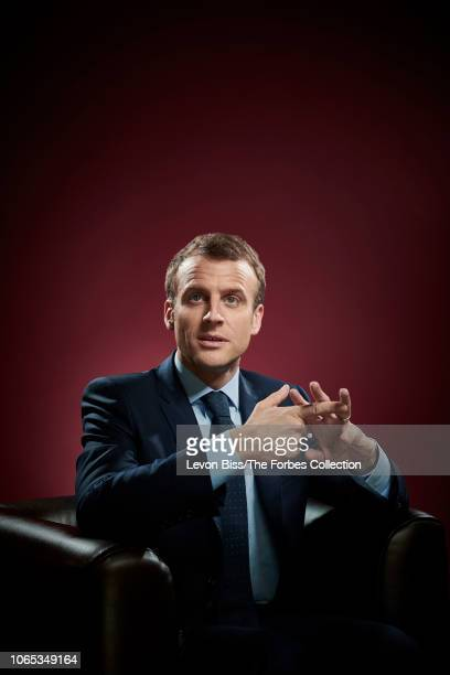 French president Emmanuel Macron is photographed for Forbes Magazine on April 13 2018 in Paris France PUBLISHED IMAGE CREDIT MUST READ Levon Biss/The...