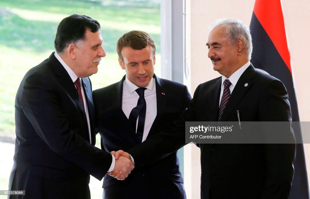 TOPSHOT-FRANCE-LIBYA-DIPLOMACY-POLITICS : News Photo