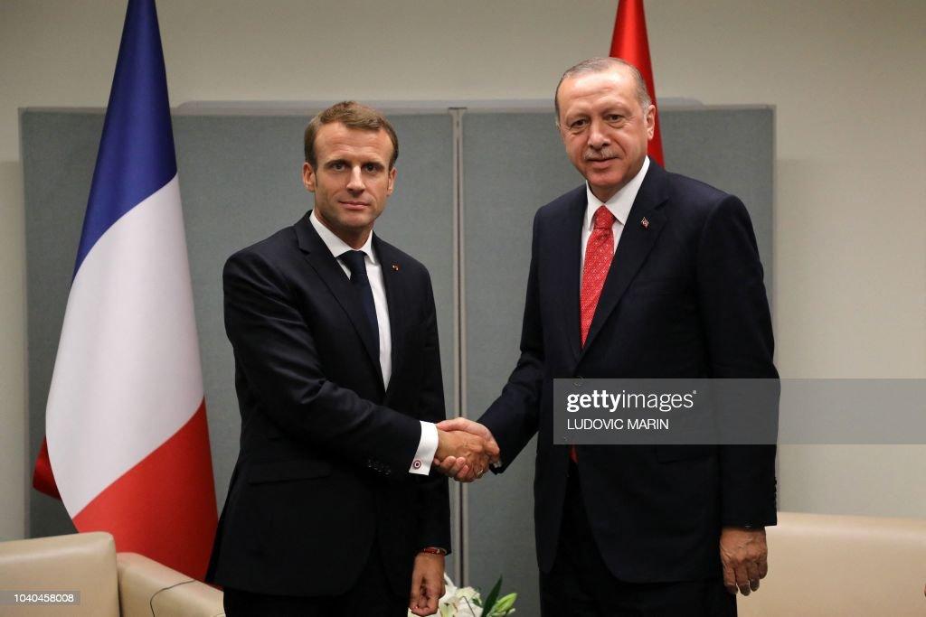 UN-ASSEMBLY-DIPLOMACY-FRANCE-TURKEY : News Photo