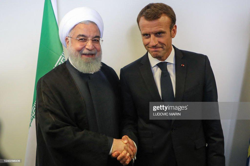 UN-ASSEMBLY-FRANCE-IRAN : News Photo
