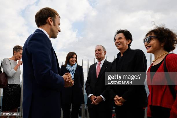 French President Emmanuel Macron, Paris Mayor and Socialist Party candidate for the 2022 French presidential elections Anne Hidalgo, former mayor of...