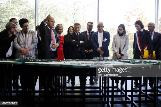 French President Emmanuel Macron President of the ParisSud University Sylvie Retailleau French Minister of Higher Education Research and Innovation...