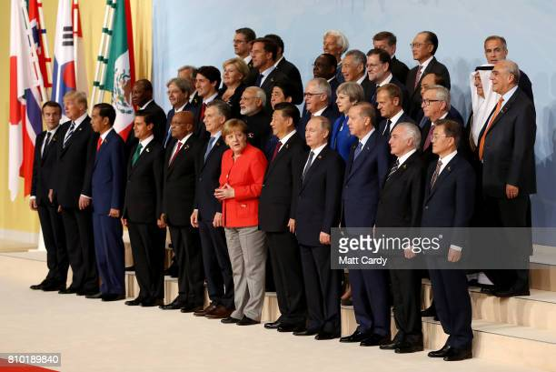 French president Emmanuel Macron US president Donald Trump Indonesian president Joko Widodo Mexican president Enrique Pena Nieto South African...