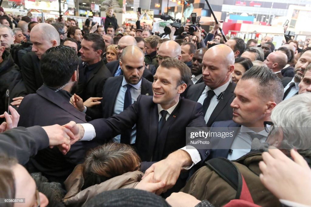Emmanuel Macron visits the 55th International Agriculture Fair
