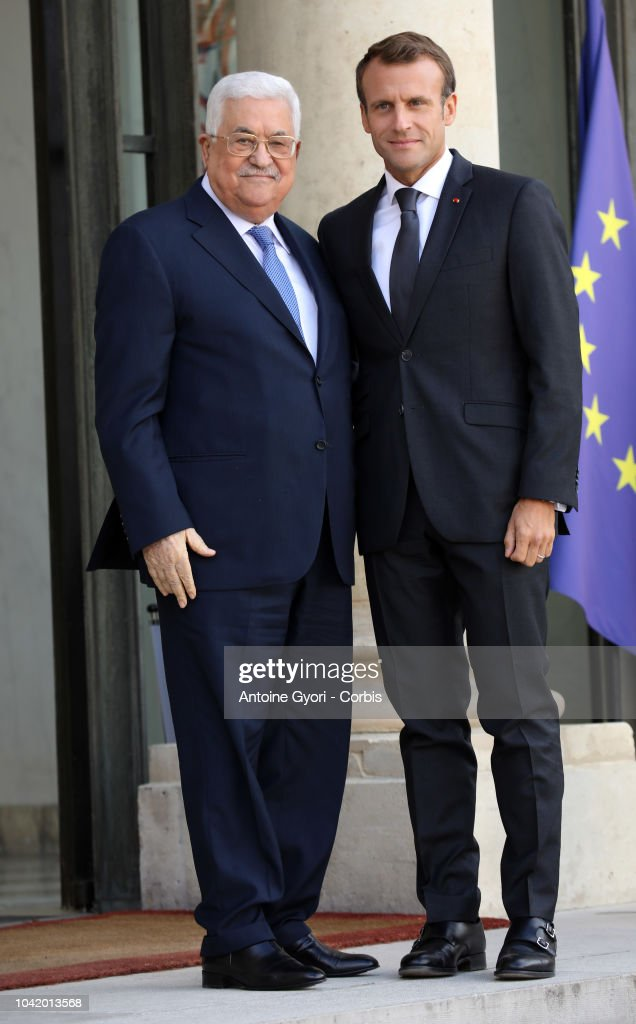 President Of The State Of Palestine Meets With President Macron