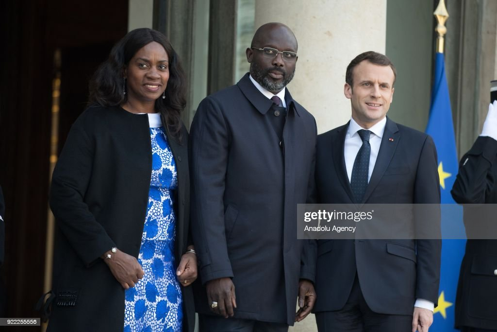 President of Liberia, George Weah in Paris