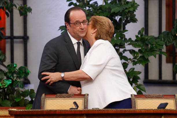 French president francois hollande l and his chilean counterpart french president francois hollande l and his chilean counterpart michelle bachelet r m4hsunfo