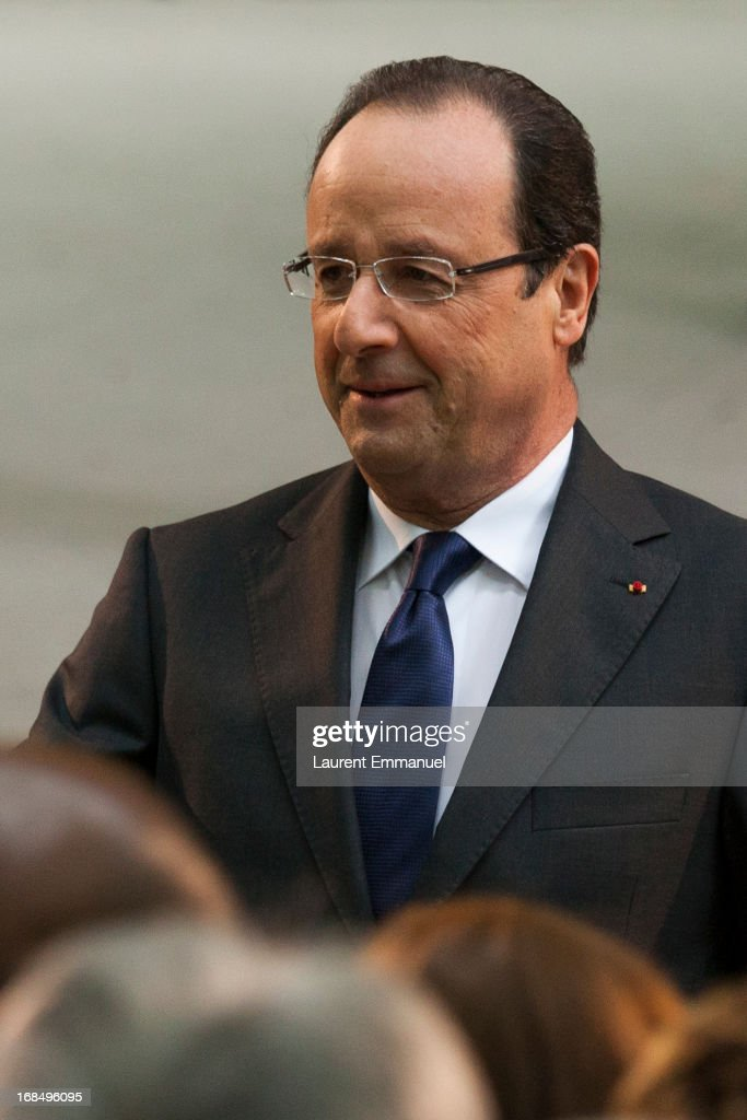 French President Francois Hollande attends a ceremony marking the abolition of slavery in the Jardins du Luxembourg on May 10, 2013 in Paris, France. Taubira Law was passed in May 2001 acknowledging slavery and the Atlantic slave trade as crimes against humanity.