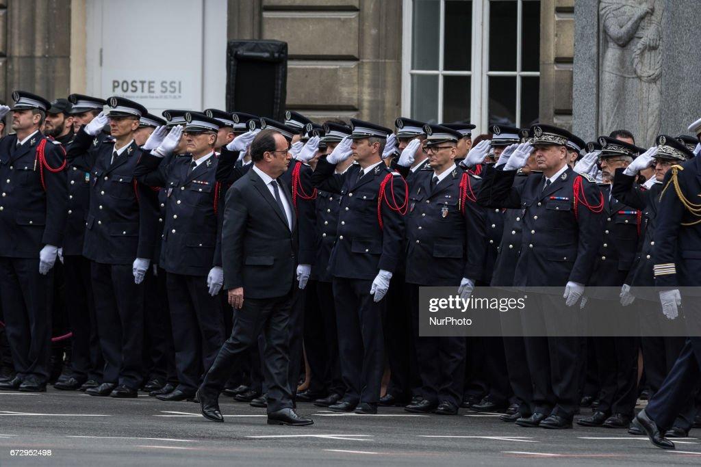 National Tribute To Fallen Police Officer Xavier Jugele Held In Paris : News Photo