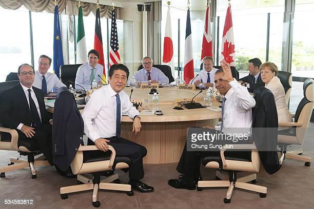 French President Francois Hollande British Prime Minister David Cameron Canadian Prime Minister Justin Trudeau Japanese Prime Minister Shinzo Abe...