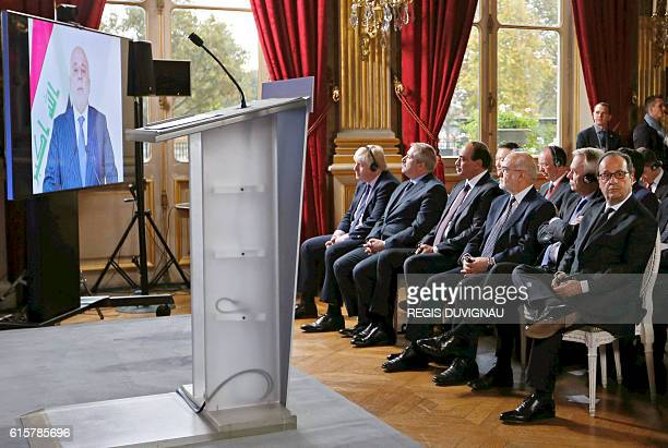 French President Francois Hollande French Foreign Minister JeanMarc Ayrault Iraq's Foreign Minister Ibrahim alJaafari Kuwait First Deputy Premier and...