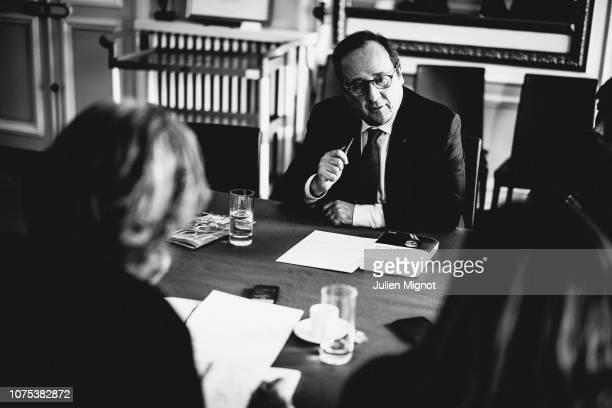 French President Francois Hollande poses for a portrait on April 2018 in Paris France