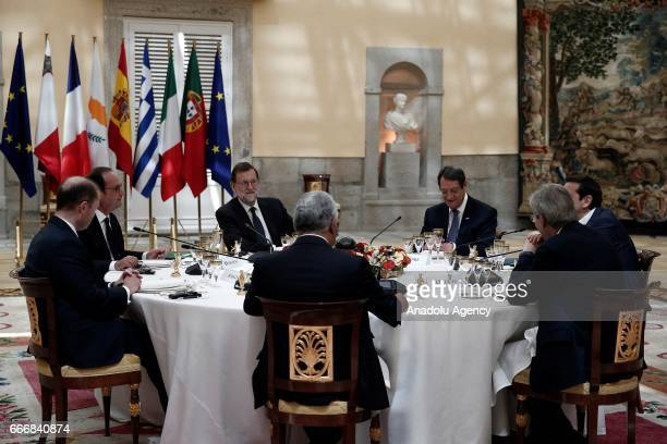 French President Francois Hollande Spanish Prime Minister Mariano Rajoy GreekCypriot leader Nicos Anastasiades Prime Minister Portugal Antonio Costa...