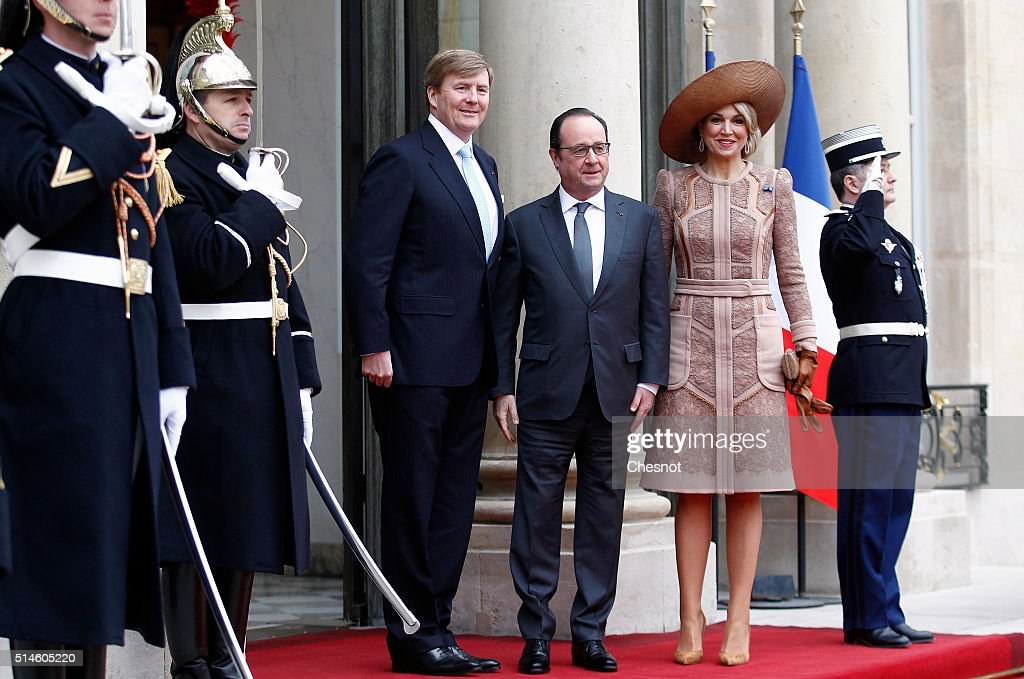King Willem-Alexander of the Netherlands and Queen Maxima on Official Two days State Visit in Paris  : Day One : News Photo