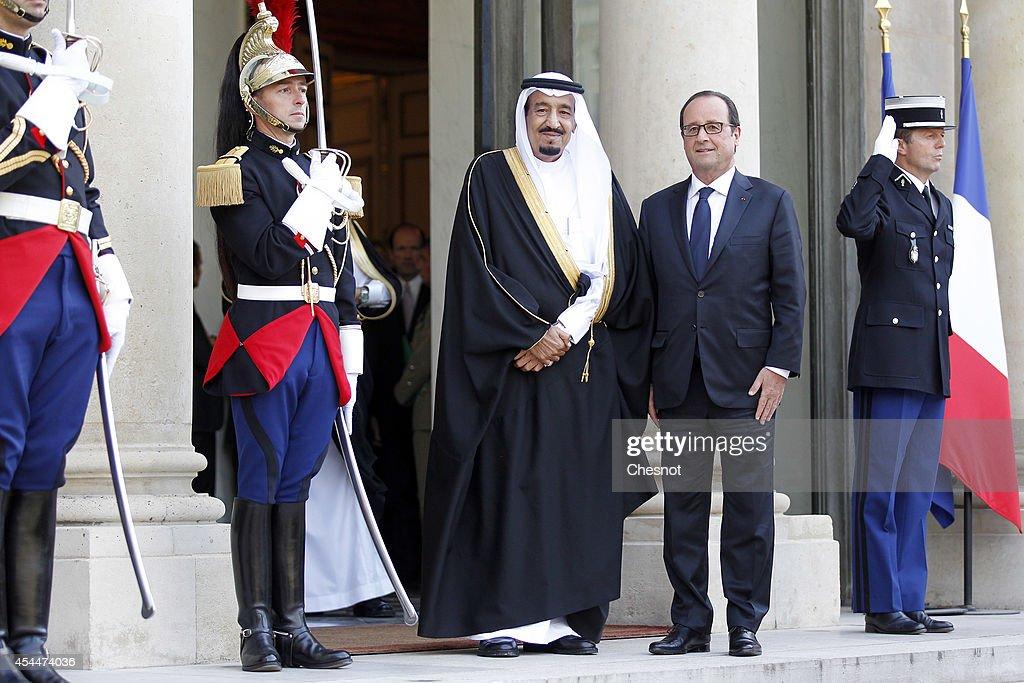 French President Francois Holland Receives Saudi Crown Prince Salman Bin Abdulaziz Al-Saud