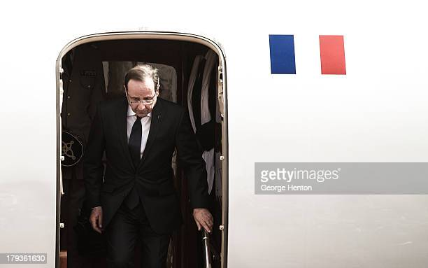 French President Francois Hollande's arrives at Bamako-Senou Airport, Bamako for a one day trip to the country in Bamako, Mali, 02 Febuary 2013. The...