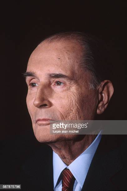 French President Francois Mitterrand attends a press conference about the Gulf crisis at the Elysee Palace during his second sevenyear Presidency