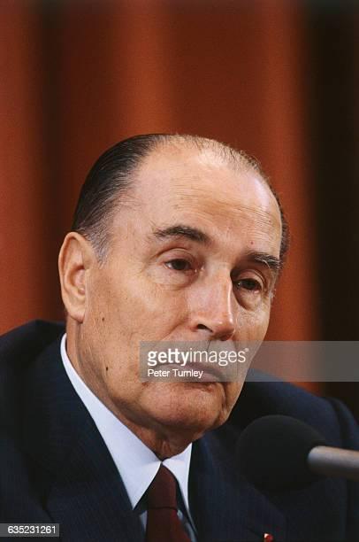 French President Francois Mitterrand