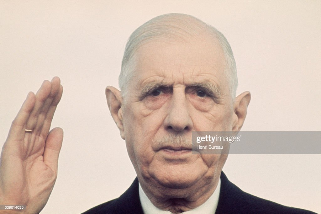 French President General Charles de Gaulle