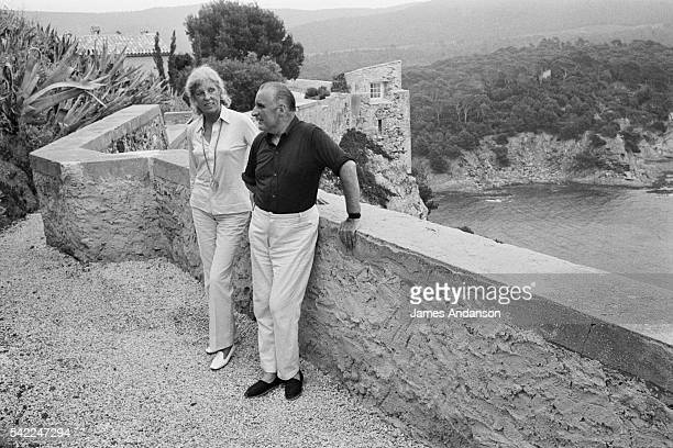 French President Georges Pompidou and wife Claude on vacation at the Fort de Bregancon   Location Bregancon France