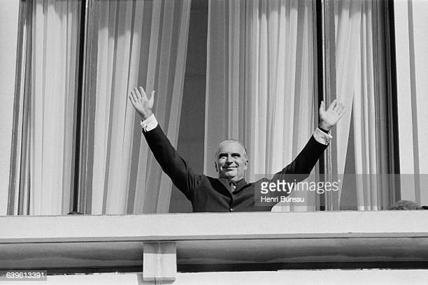 French President Georges Pompidou during an official visit to Brest