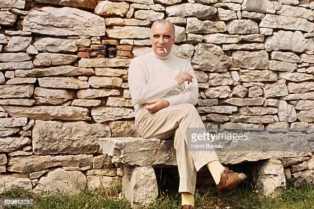 French President Georges Pompidou on holiday in Cajarc