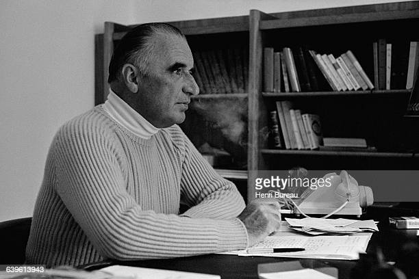 French President Georges Pompidou on vacation in Carnac Brittany