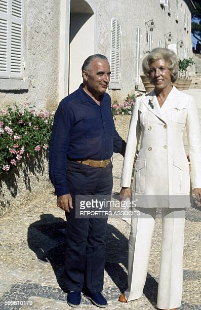 French president Georges Pompidou with his wife Claude on holidays in France circa 1970
