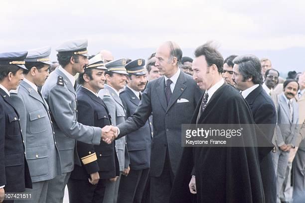 French President Giscard D Estaing And Algerian President Houari Boumediene