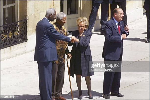 French President Jacques Chirac During Bastille Day Events On July 14 2003 In Paris France Traditional July 14 Garden Party At The Elysee Palace...