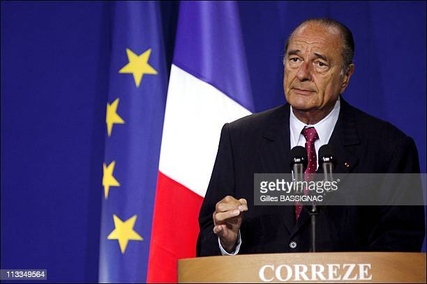 French President Jacques Chirac Gives His New Year'S Wishes To The French South-Western Regional Area Of Correze In Tulle, France On January 07, 2007...