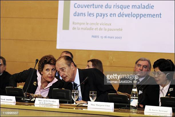 French president Jacques Chirac in ParisFrance on March 16th 2007 Brigitte Girardin Minister for Cooperation Development and the FrenchSpeaking...