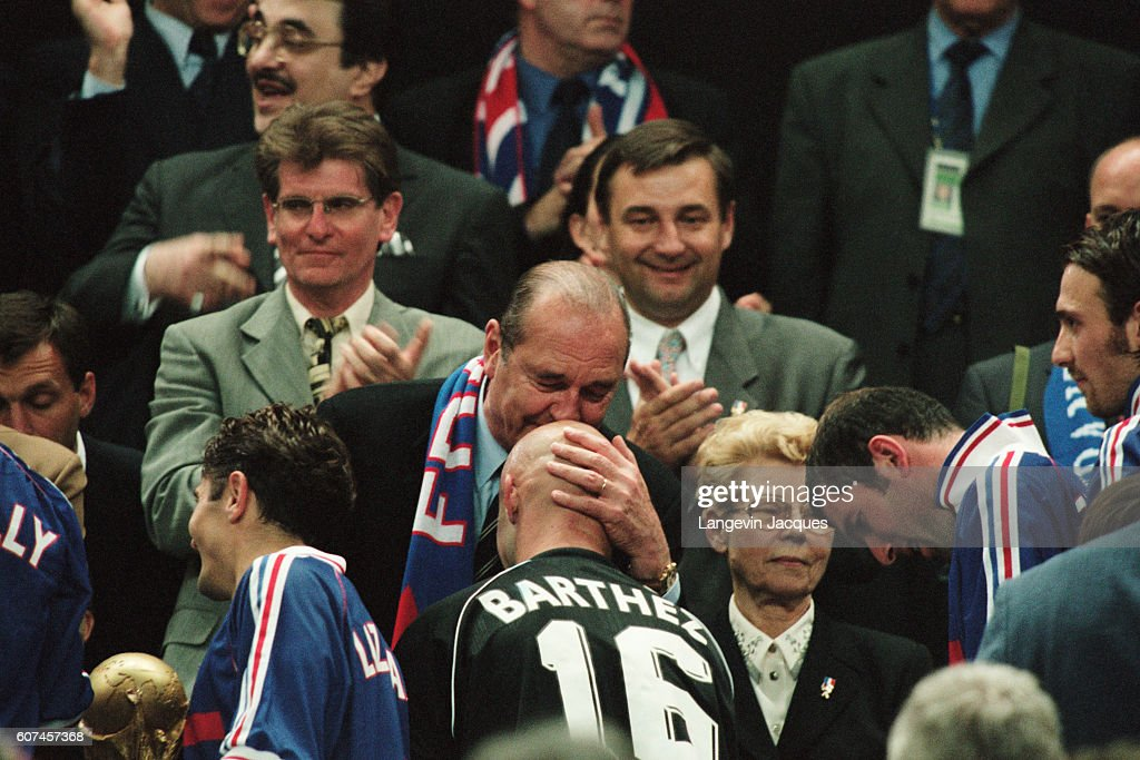 Image result for Chirac kiss Barthez