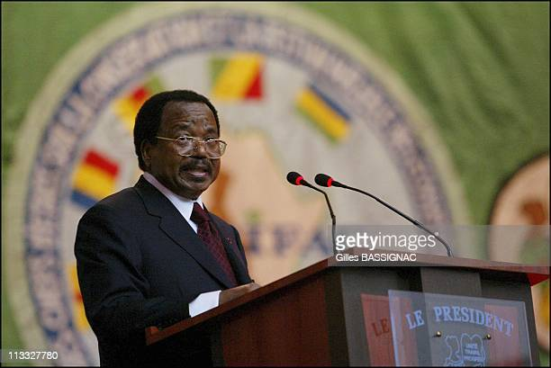 French President Jacques Chirac On Visit To The Republic Of Congo On February 5Th, 2005 In Brazzaville, Congo - Opening Of The Conference About...