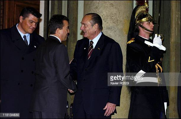 French president Jacques Chirac receives IOC evaluation commission at the Elysee palace in Paris in Paris France on March 12 2005 French president...