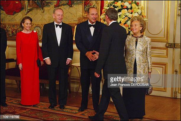 French President Jacques Chirac Receives Jean Chretien At The 'Quai D'Orsay' In Paris On December 9 2003 In Paris France JeanPierre And AnneMarie...