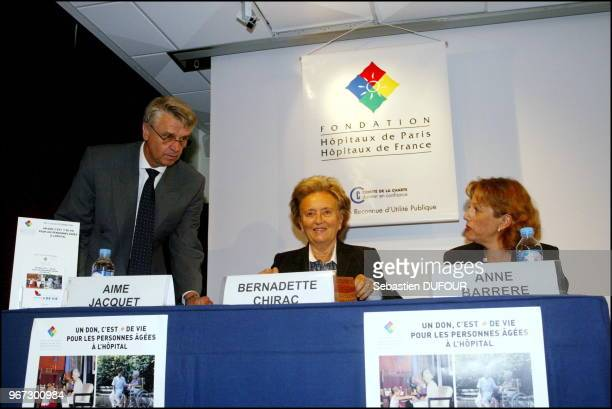 French President Jacques Chirac's wife Bernadette launches 'Operation de vie 2002' charity event for the handicapped with former National Soccer Team...