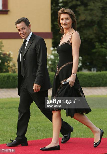 French President Nicolas Sarkozy and wife Cecilia Sarkozy arrive at the opening dinner of the G8 summit at Heiligendamm June 6 2007 at Hohen Luckow...