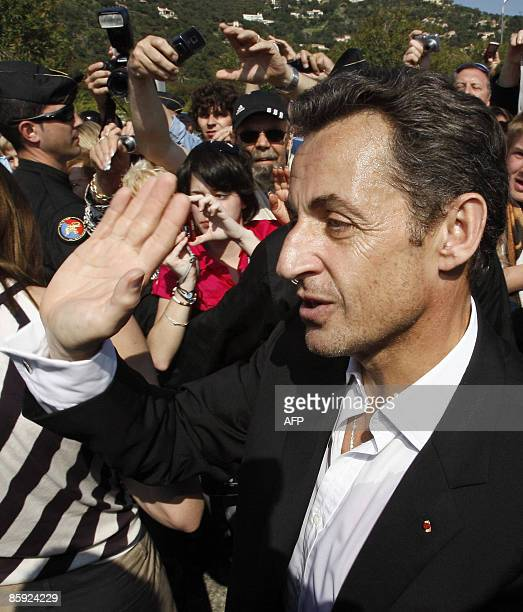 French President Nicolas Sarkozy attend the trophy ceremony of the first edition of the Virginio BruniTedeschi sailing trophy a fundraising event in...