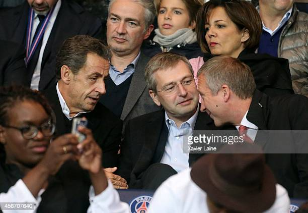 French president Nicolas Sarkozy Dmitri Rybolovlev and Vadim Vasilyev attend the French Ligue 1 between Paris SaintGermain FC and AS Monaco FC at...