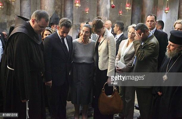 French President Nicolas Sarkozy French philosopher Simone Weil Sarkozy's wife Carla Bruni French Interior Minister Michelle AlliotMarie and other...