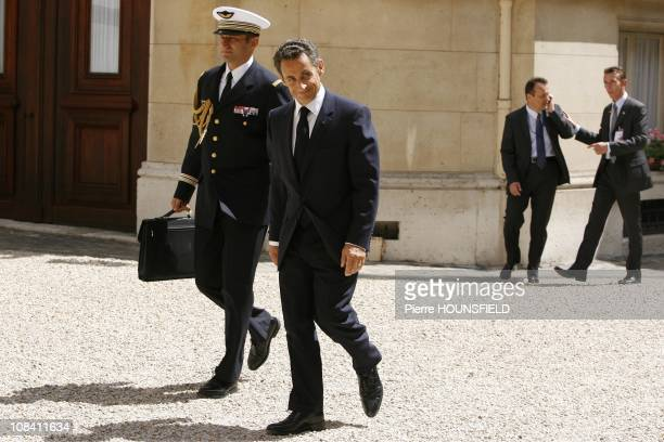 French President Nicolas Sarkozy in Paris France on July 14th 2009