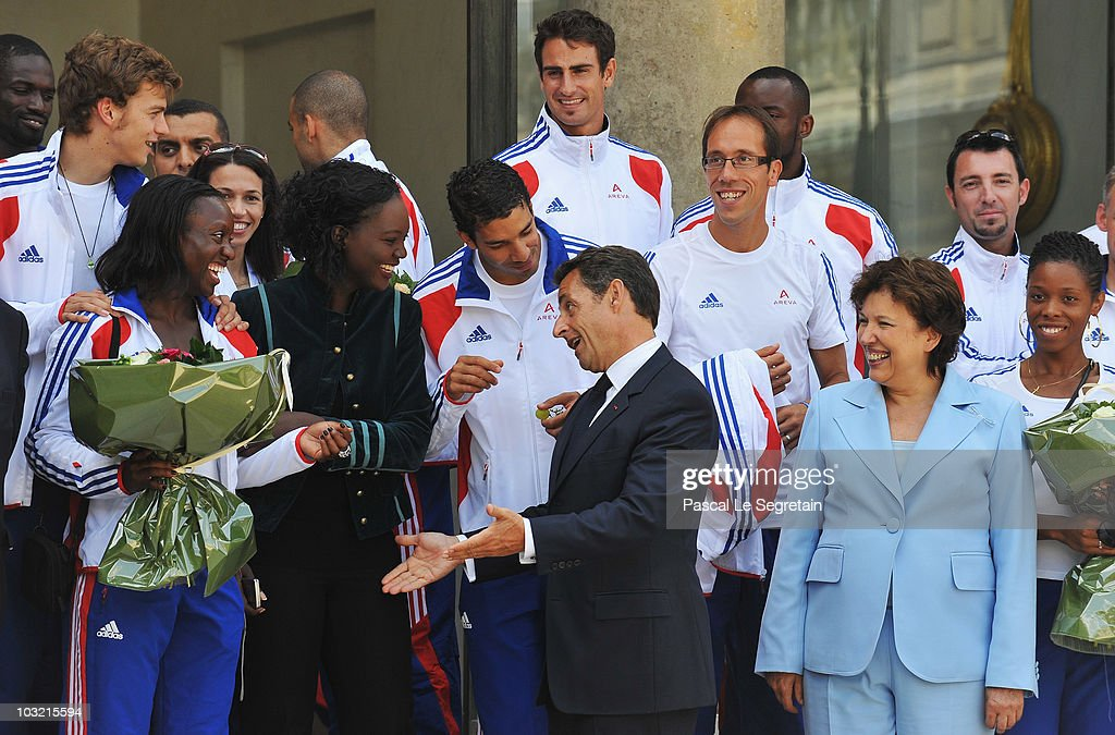 French Athletes Attend Lunch At Elysee Palace : ニュース写真