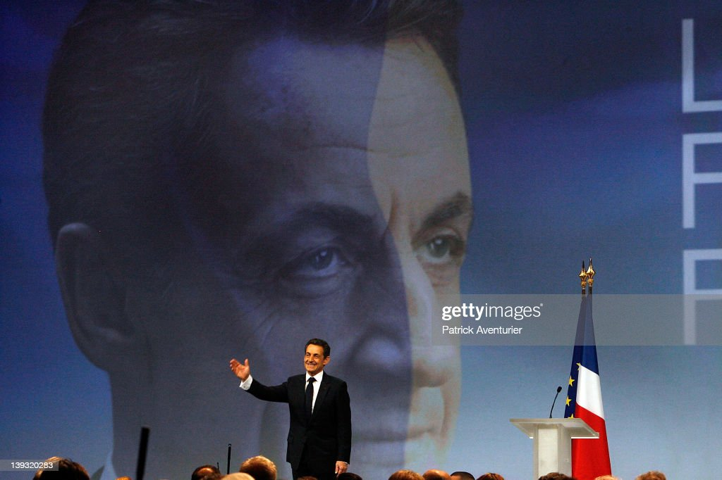 Nicolas Sarkozy UMP Support Meeting in Marseille : News Photo
