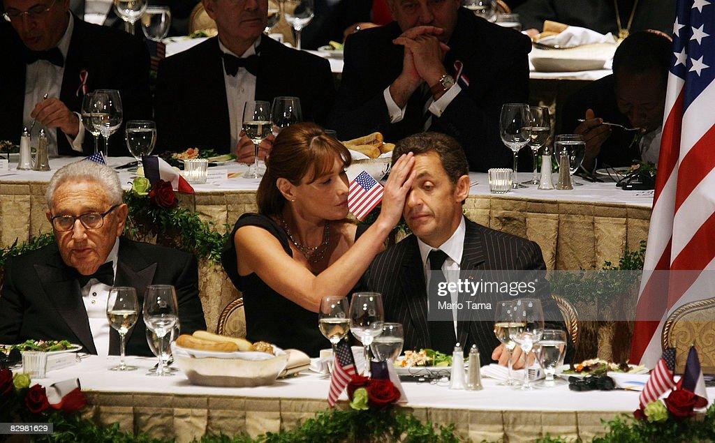 Sarkozy Awarded Appeal Of Conscience World Statesman Award : News Photo
